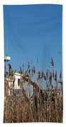 Oyster Boats In Dry Dock  Beach Towel