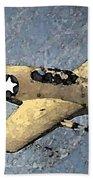P51 Mustang In Flight Beach Sheet