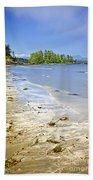 Pacific Ocean Coast On Vancouver Island Beach Sheet