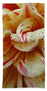 Paint Spattered Petals Beach Towel
