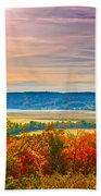 Paint Valley From Valley View Golf Beach Towel