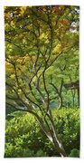 Painted Gardens Beach Towel