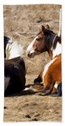 Painted Horses I Beach Towel