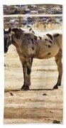 Painted Horses II Beach Towel