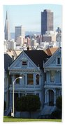 Painted Ladies Beach Towel by Linda Woods