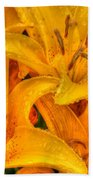 Painted Lily Beach Towel