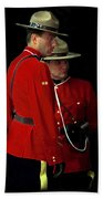 Painted Mounties Beach Towel