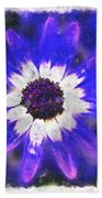 Painted Purple  Beach Towel