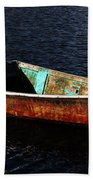 Painted Row Boat Beach Towel