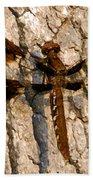 Painted Skimmer On Oak Beach Towel