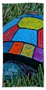 Painted Turtle Sprinkler Beach Towel