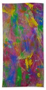 Painted Wooden Wall Beach Towel