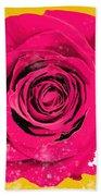 Painting Of Single Rose Beach Towel