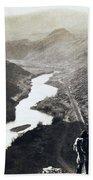 Palisades Railroad View - California - C 1865 Beach Towel