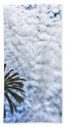 Palm And Dramatic Sky Beach Towel