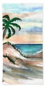 Palm Cost Beach Towel