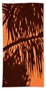Palm Frond Abstract Beach Towel
