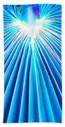 Palm Frond In Blue Beach Towel