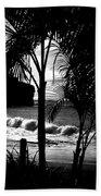 Palm Tree Silouette Beach Sheet