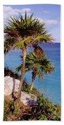 Palm Trees At Tulum Beach Towel