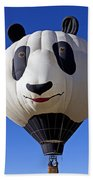 Panda Bear Hot Air Balloon Beach Towel