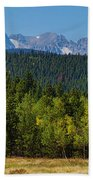 Panorama Scenic Autumn View Of The Colorado Indian Peaks Beach Towel