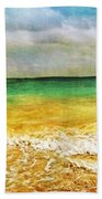 Panoramic Seaside At Tulum Beach Towel by Tammy Wetzel