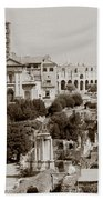 Panoramic View Via Sacra Rome Beach Towel