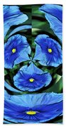 Pansy In Triplicate Beach Towel