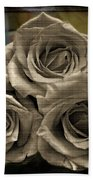 Paper Roses Art Beach Towel