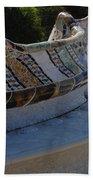 Parc Guell Spain Beach Towel