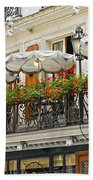 Paris Cafe Beach Towel by Elena Elisseeva