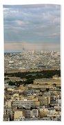 Paris City View Beach Towel
