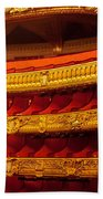 Paris Opera House Iv   Box Seats Beach Towel