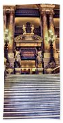 Paris Opera House Vii  Grand Stairway Beach Towel