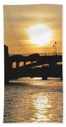 Parisian Sunset Beach Towel