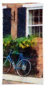 Parked Bicycle Beach Towel