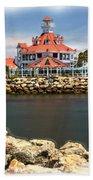 Parker's Lighthouse Charm Beach Towel