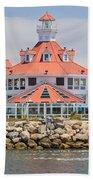 Parker's Lighthouse Shoreline Village Beach Towel