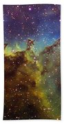 Part Of The Ic1805 Heart Nebula Beach Towel