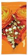 Party Invitation - Orange Roses Beach Towel