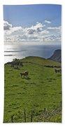 Pastoral Landscape Of Santa Maria Island Beach Towel