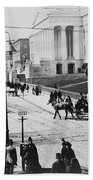 Patent Office During Presidential Inauguration - Washington Dc - C 1889 Beach Towel