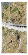 Path Leading To The Shrine Of Vaishno Devi Beach Towel