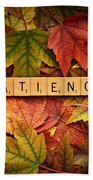 Patience-autumn Beach Towel