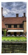 Patio Restaurant At Cecilienhof Palace Beach Towel