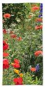 Patriotic Flowers Beach Towel