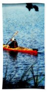Peaceful Canoe Ride Ll Beach Towel
