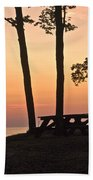 Peaceful Evening Picnic 7109 Beach Towel
