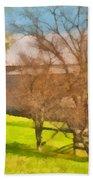 Peaceful Farm In Autumn Beach Towel